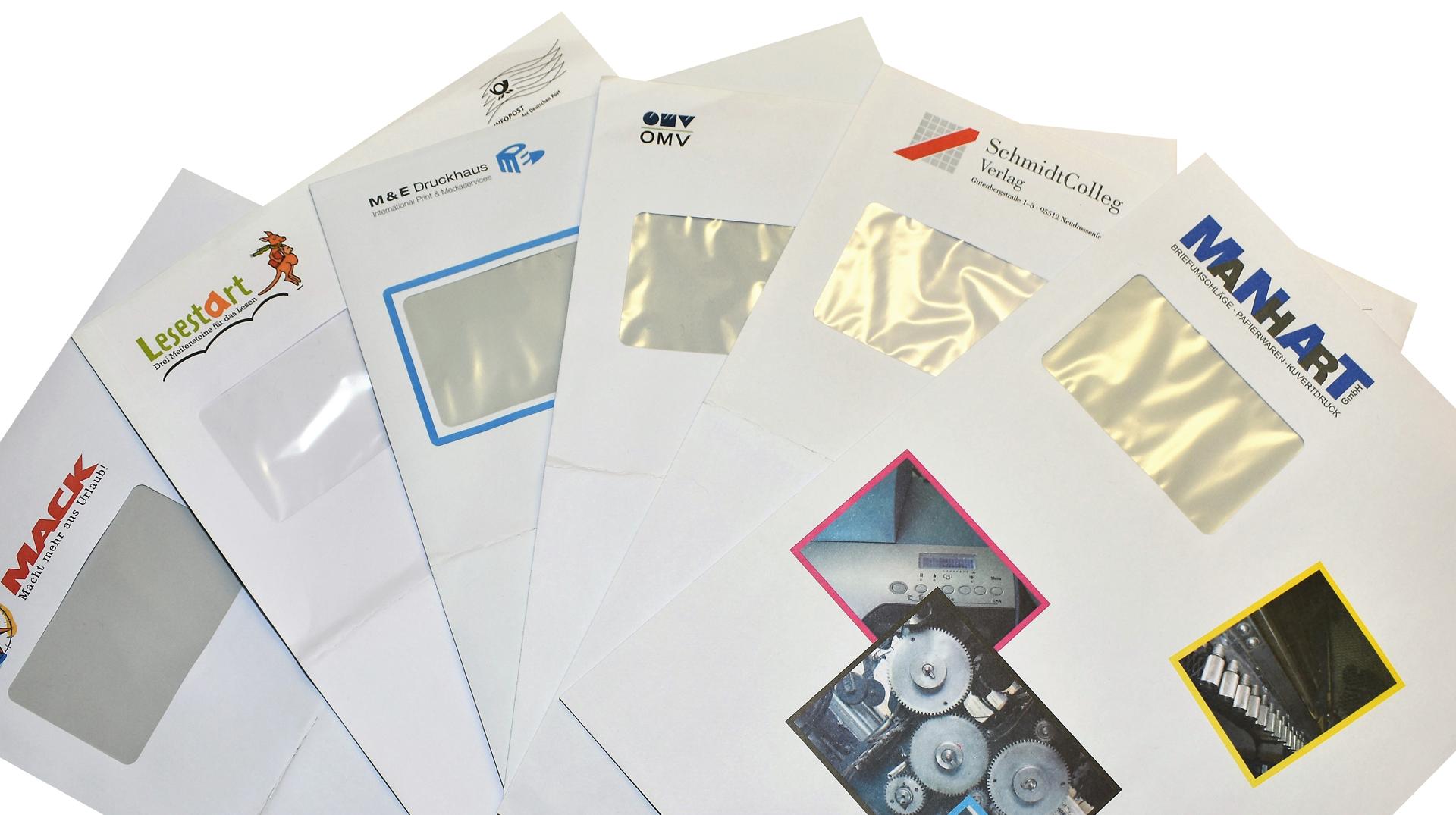 C4 Kuvert Beispielprodukte Manhart Kuvertdruck